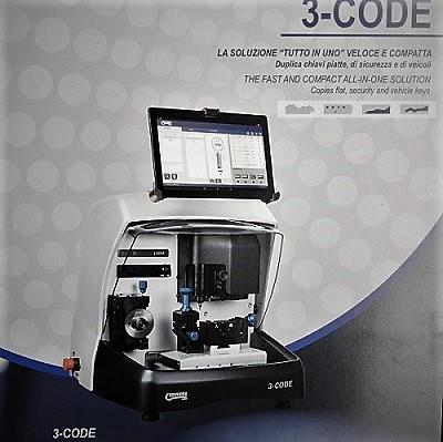 Disponibile nuova macchina duplicatrice 3-CODE ERREBI multifunzione
