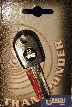 Chiave auto trasponder TOOKW16P per kawasaki e Ducati